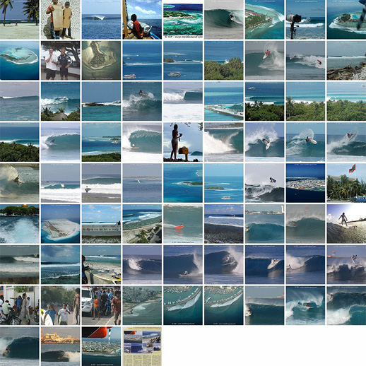 Pictures of the surf and waves in North Malé Atoll